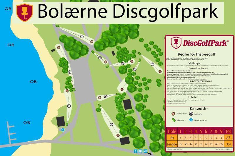 østre bolærne kart Bolærne Discgolfpark   Discgolfpark.no østre bolærne kart